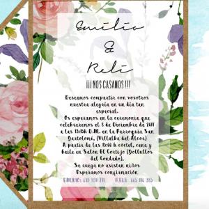 Invitación de boda modelo Rosas