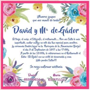 Invitación de boda modelo Verano