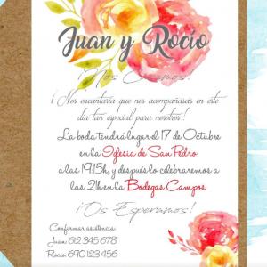 Invitación de boda modelo Victoria
