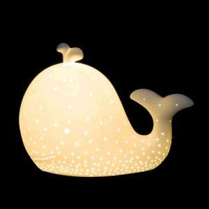 Lámpara porcelana forma ballena