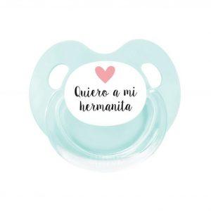 PRO Chupete Retro Aqua Quiero a mi Hermanita