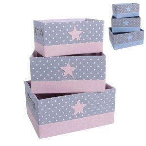 Pack 3 cestas estrella