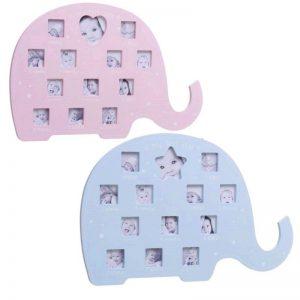 Portafotos 12 meses bebé elefante