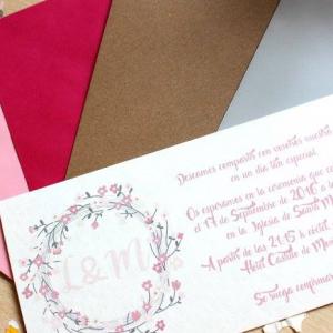 Invitación de boda modelo Amor