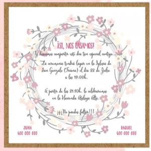 Invitación de boda modelo Armonía