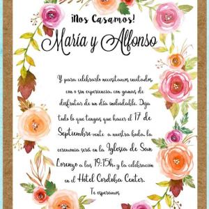 Invitación de boda modelo Bohemian