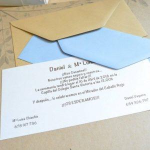 Invitación de boda modelo Clasic