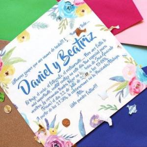 Invitación de boda modelo Confeti