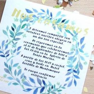 Invitación de boda modelo Corona Blue