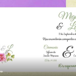 Invitación de boda modelo Dulces Sueños