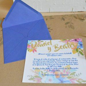 Invitación de boda modelo Floral
