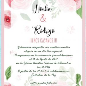 Invitación de boda modelo Frescura