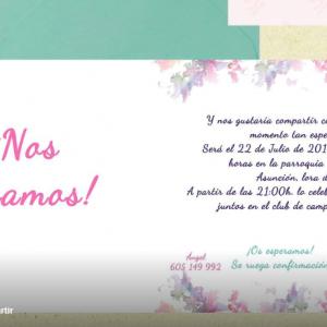 Invitación de boda modelo Jardín