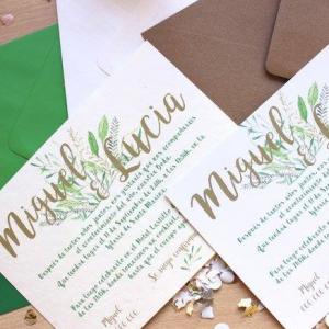 Invitación de boda modelo Julieta