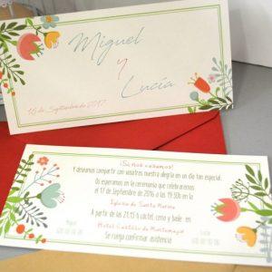 Invitación de boda modelo Libertad