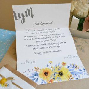 Invitación de boda modelo Limón