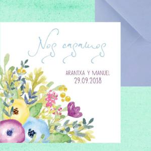 Invitación de boda modelo Otoño