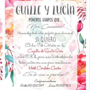 Invitación de boda modelo Pasión