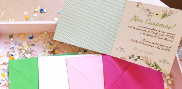 Invitación de boda modelo Pastel
