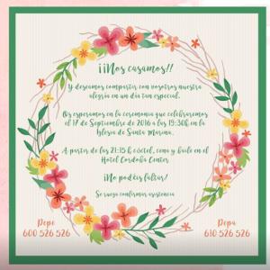 Invitación de boda modelo Primavera